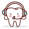 tooth with headphones